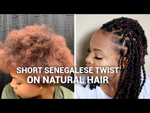 *Short Senegalese Twist* on short/medium natural hair