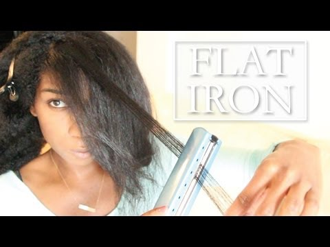 Flat Ironed Natural Hair! Low Heat - Naptural85