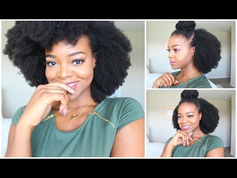 4C Hair Clip-ins On My Short Natural Hair | HerGivenHair - IfyYvonne