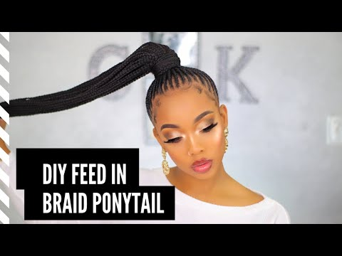 Feed in Braids Ponytail Made EASY- Ft Outre's Pretty Quick Wrap Pony