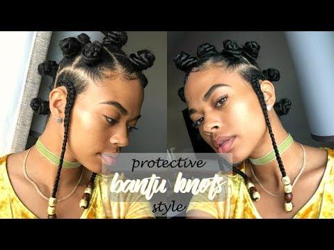 TWA-friendly 🌸 | BANTU KNOT PROTECTIVE STYLE | Type 4 Natural Hair