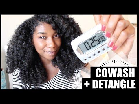 The 25 Minute Co Wash + Detangle! Thick Long Natural Hair - Naptural85