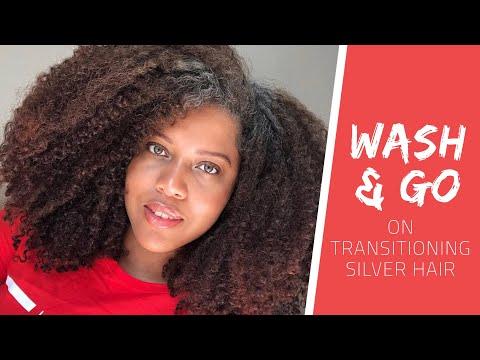 WASH AND GO ON TRANSITIONING GREY HAIR // Samantha Pollack