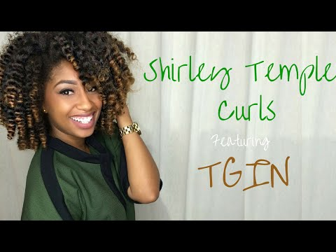Shirley Temple Curls on Natural Hair Ft TGIN