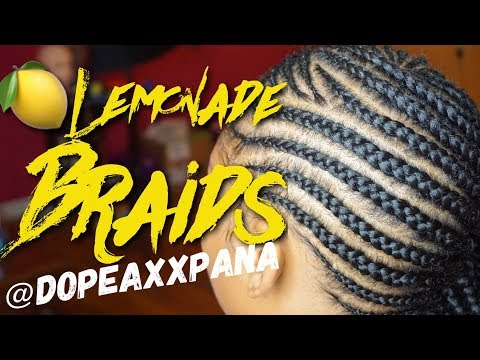 How To: Lemonade Braids | Small Feed in Braids | Dopeaxxpana