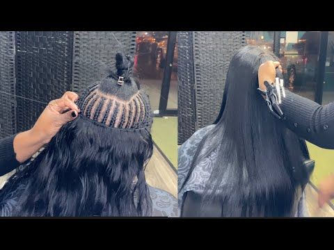 Traditional Sew In with Leave out & Silk Press - updated 2021