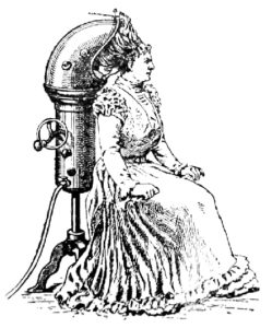 Salon style hooded dryer from the 1920s