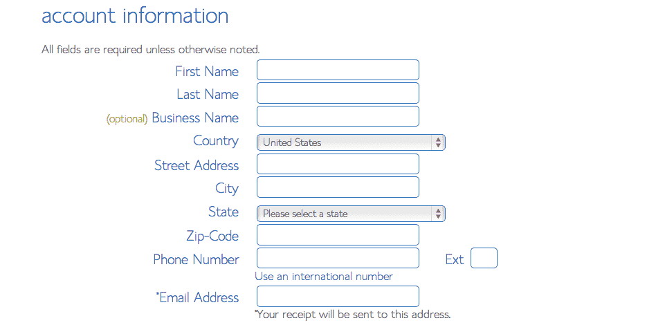 Enter your contact information