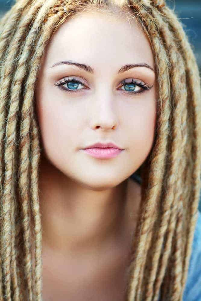 Free, Long Dreads on Type 1 Hair
