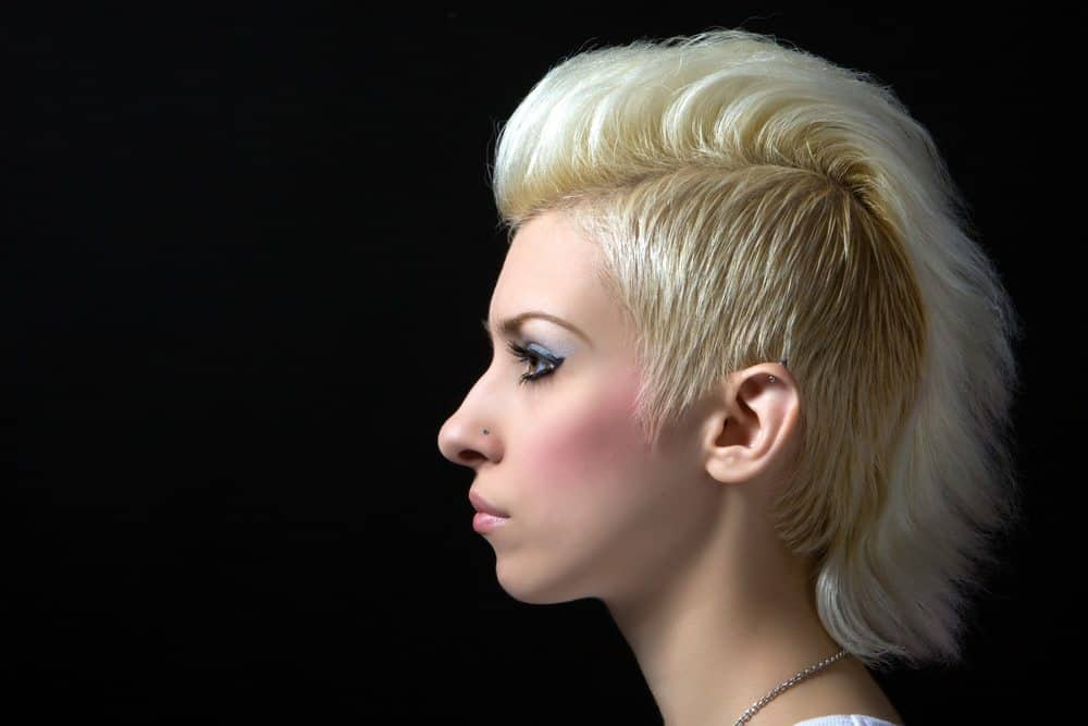 Blonde Teased Mohawk