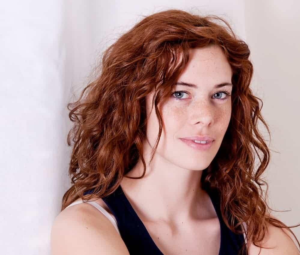 Beautiful red head with type 2 wavy hair