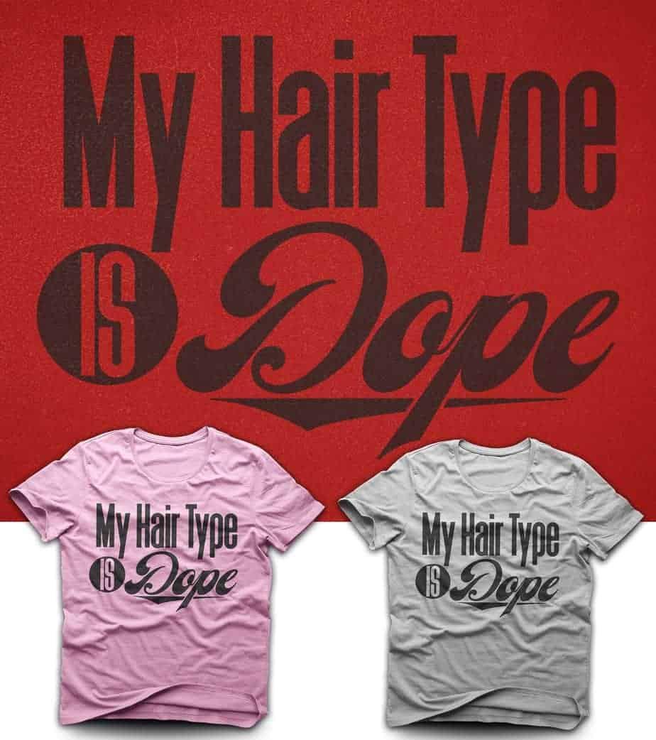 hair type t-shirt