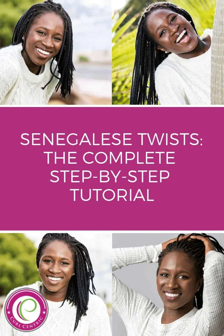 This DIY senegalese twist article for natural hair covers how to do small, medium and jumbo hairstyles. Whether your hair is curly, short, long, or contains color this step-by-step walkthrough will provide the best crochet and senegalese twists style tips for black, African American, caucasian and Asian girls, plus other curly hair types. #DIY #homemade #blackgirls #hairstyles #crochet #curls #howtodo #AfricanAmericans #senegalese #tips #steps #natural #twist #jumbo #medium #small