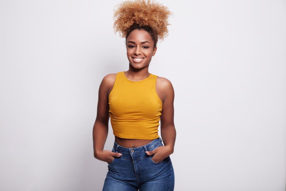 Black women wearing the pineapple method for natural Hair