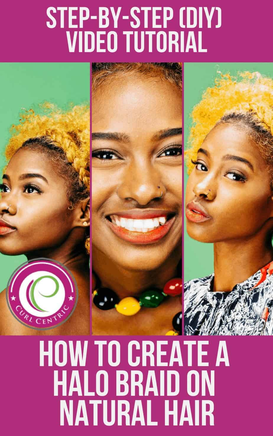 This article includes a step-by-step DIY halo braid video tutorial for black and white women, teens, girls or kids. The braid is similar the dutch braid or crown braid, but it can be completed with weave if you have short natural hair or on straight, wavy, curly and kinky hair types. Also, we've noticed several popular celebrities rocking halo braids lately, so it's going to worn frequently this summer. #halobraid #tutorial #naturalhair #kids #women #weave #black #white #crown #dutch #braids
