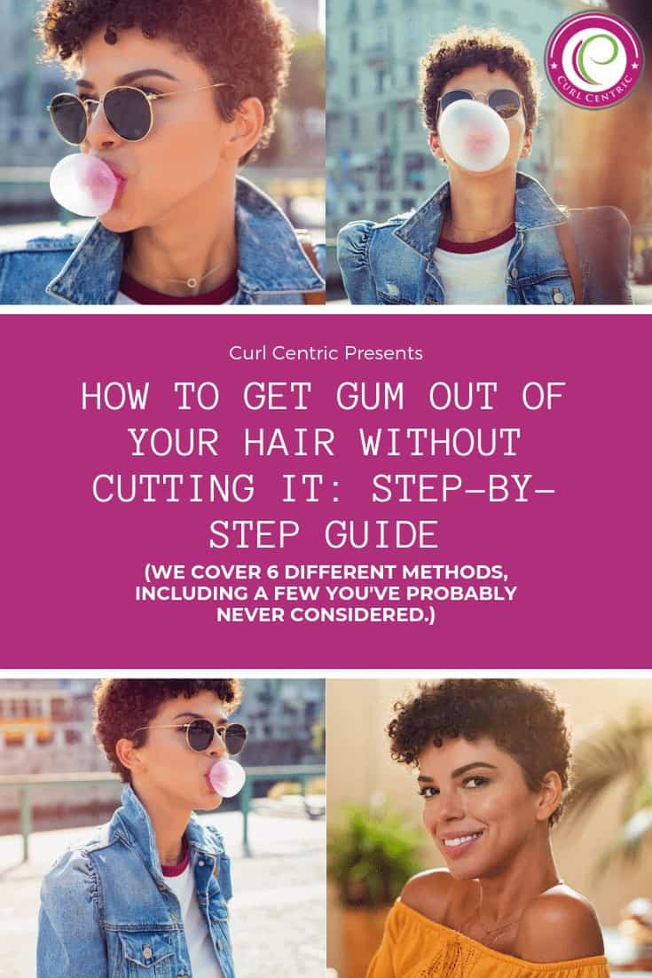 Do you have chewing gum stuck in your hair? This scenario isn't just pertinent to children (or kids), either. It's easy to panic if you find yourself with gum stuck to your hair strands, but this guide will teach you how to get gum out of your hair without cutting it with DIY home remedies. Methods include apple cider vinegar, oil-based cleansers, olive oil, peanut butter, ice, petroleum jelly, and rubbing alcohol. #howtoremove #peanutbutter #homeremedies #ice #oil #kids #children #tips #products