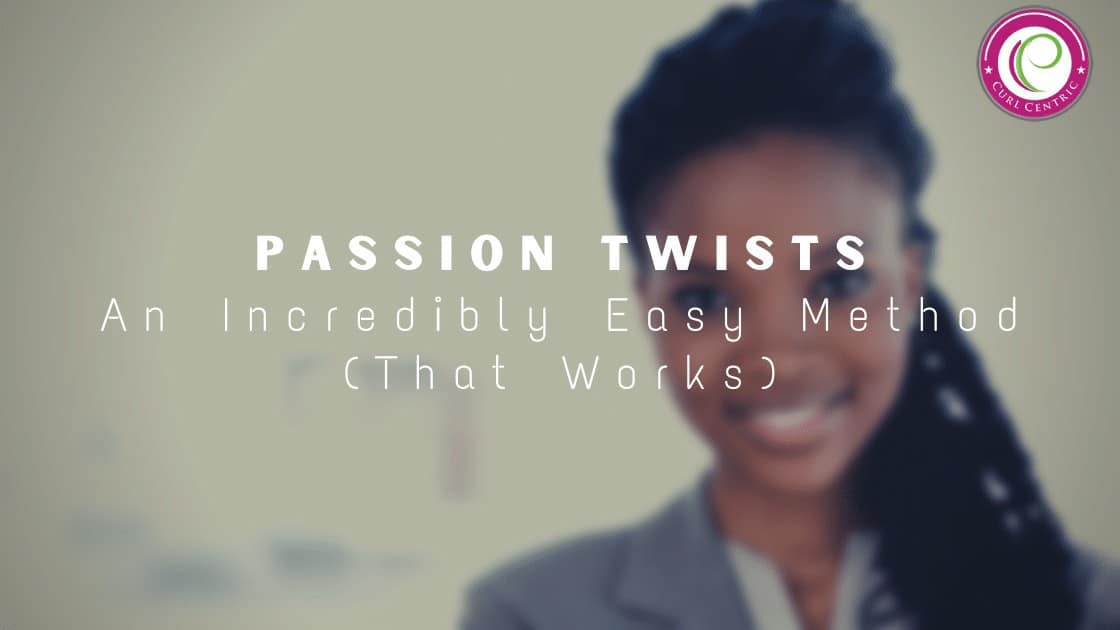 Lady wearing passion twists hairstyle