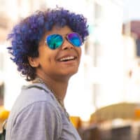 dyeing your hair purple with box dye