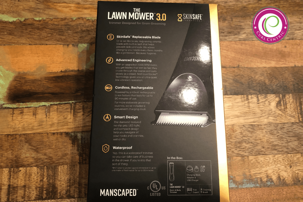 Unboxing photo of the best beard trimmers for curly black hair.