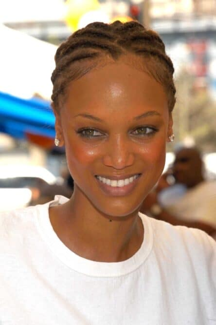 Tyra Banks, a former model, known for her perceived attractiveness